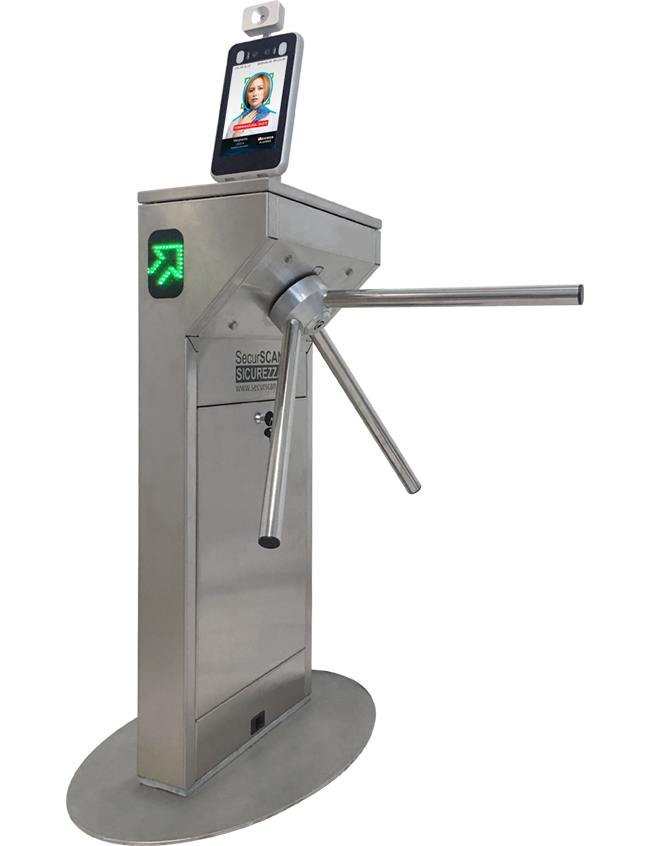 Turnstile TL-Pass with Thermoscanner iAccess ScanFACE®